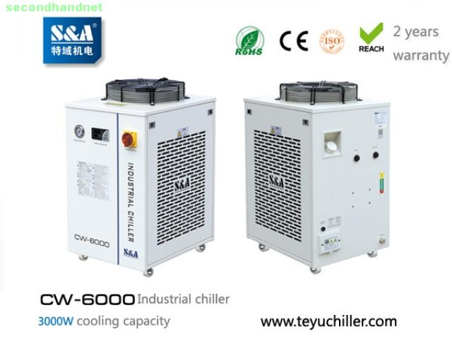 S&A water chiller CW-6000 with 3KW cooling capacity and environmental refrigeran