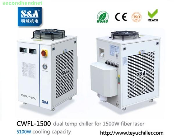 S&A water chiller CWFL-1500 for cooling 1500W metal fiber laser machine