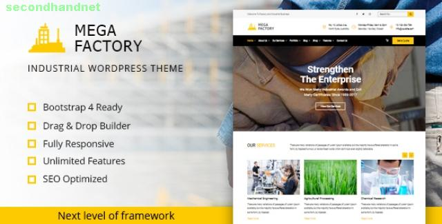 Mega Factory - Factory & Industrial Business WordPress Theme
