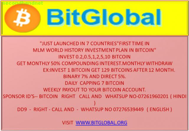 COMPOUNDING INTEREST BITCOIN PLAN FIRST TIME IN INDIA 07261960201...............