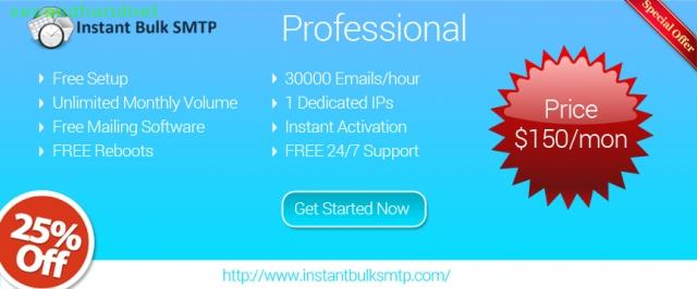 bulk smtp Servers efficiently at low cost! free mailing software, dkim, spf, rdn