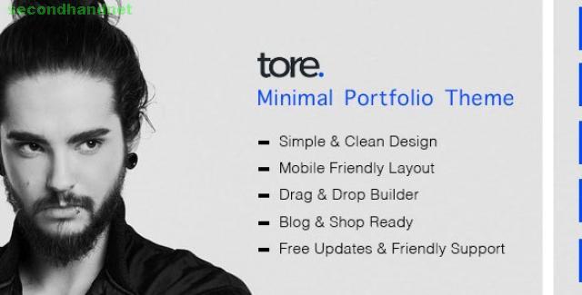 Tore - Minimal Portfolio WordPress Theme by zozothemes