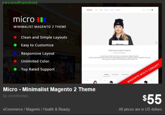 Micro - Minimalist Magento 2 Theme