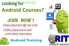 Android training institute in Chennai mount road.