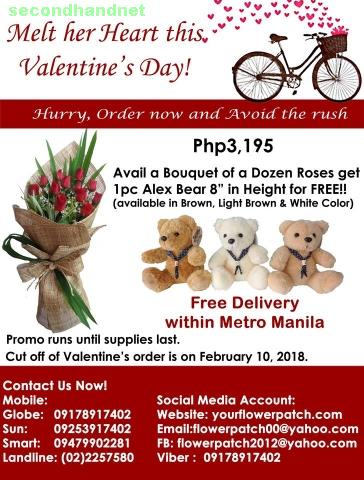 Valentine's Day, Valentine's Gifts with free Flower Delivery