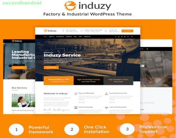 Induzy – Factory & Industrial WordPress Theme by zozothemes