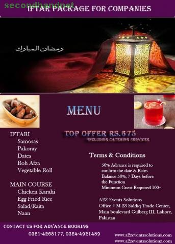 Ramadan Iftar package for companies